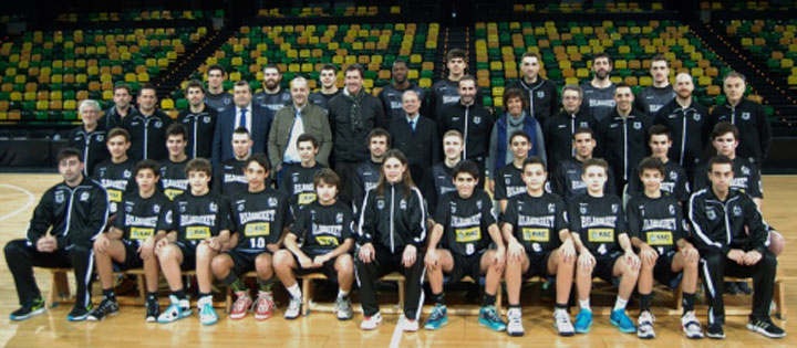 Un alumno en la Minicopa del Bilbao Basket