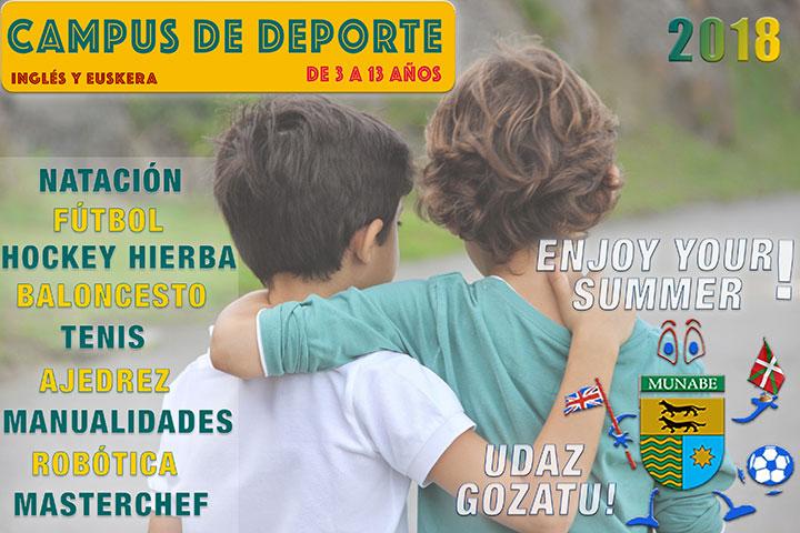 Campus Deportivo Munabe. Mes Julio