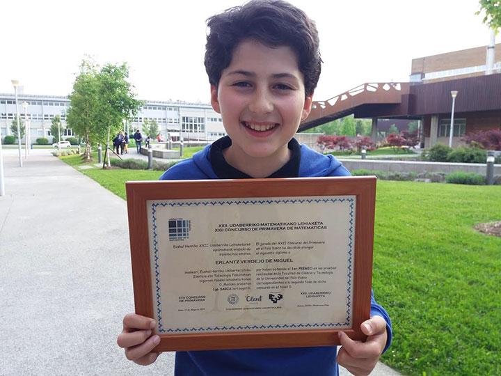 1er premio en XXII Concurso Matemático de Primavera de la UPV