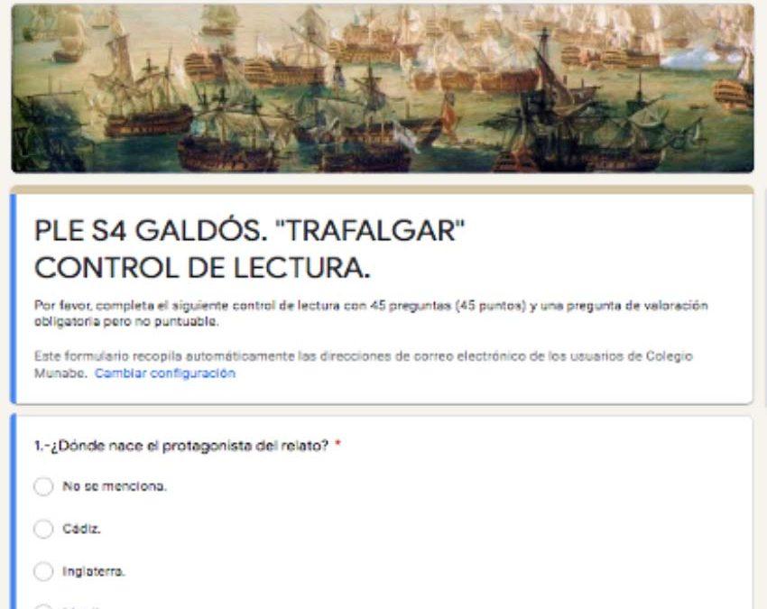 Control de lectura online de Trafalgar