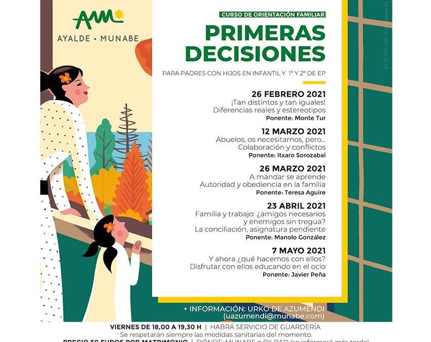"""Curso de Orientación Familiar: """"Primeras decisiones"""""""